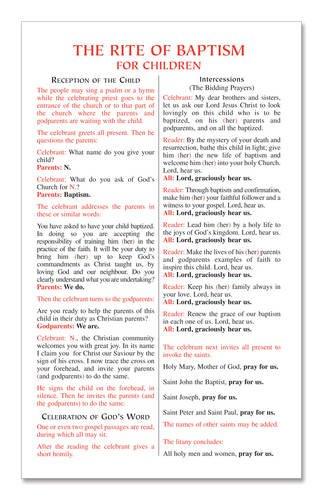 9780851835730: Rite of Baptism for Children