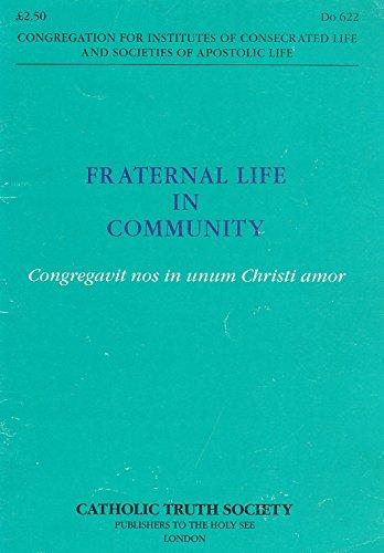 9780851839196: Fraternal Life in Community: Congregavit Nos In Unum Christi Amor