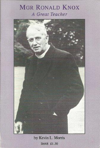 9780851839738: Monsignor Ronald Knox