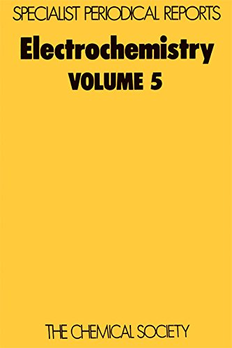 Electrochemistry, Vol 5 (Specialist Periodical Reports): Royal Society of