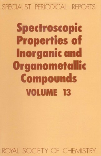 Spectroscopic Properties of Inorganic and Organometallic Compounds: Royal Society of