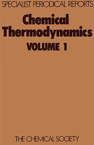 9780851862538: Chemical Thermodynamics: Volume 1 (Specialist Periodical Reports)