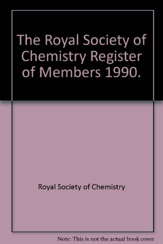 The Royal Society of Chemistry Register of Members 1990.: Royal Society of Chemistry