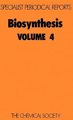 Biosynthesis (SPR Biosynthesis (RSC)): Royal Society of
