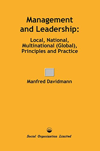 9780851920573: Management and Leadership: Local, National, Multinational (Global), Principles and Practice