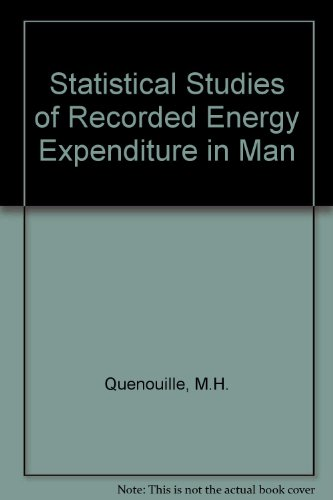 9780851981390: Statistical Studies of Recorded Energy Expenditure in Man