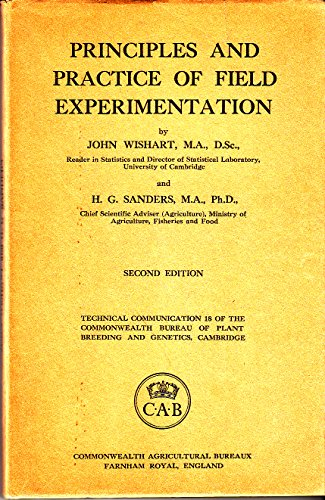 9780851982168: Principles and Practice of Field Experimentation