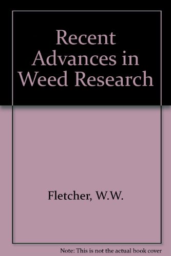 9780851985138: Recent Advances in Weed Research