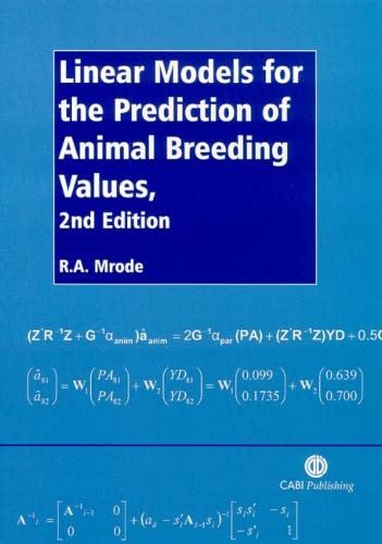 9780851989969: Linear Models for the Prediction of Animal Breeding Values