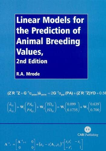 9780851990002: Linear Models for the Prediction of Animal Breeding Values (Mycological papers, no. 116)