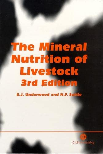 9780851991283: The Mineral Nutrition of Livestock