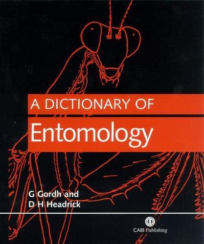 9780851992914: A Dictionary of Entomology (Cabi)