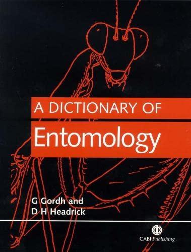 9780851996554: A Dictionary of Entomology (Cabi)