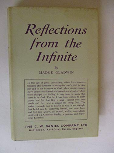 9780852070192: Reflections from the Infinite