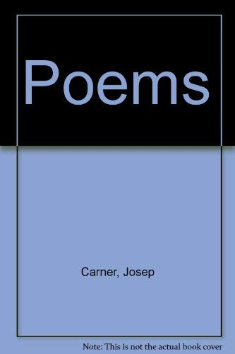 Poems (Catalan and English Edition): Carner, Josep
