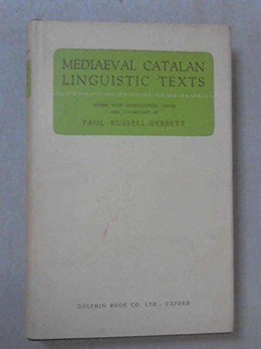 9780852150429: Mediaeval Catalan Linguistic Texts