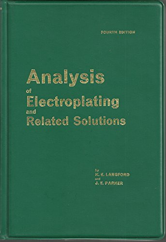9780852180334: Analysis of Electroplating and Related Solutions