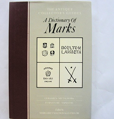 9780852237199: Dictionary of Marks (Antique Collectors' Guides)