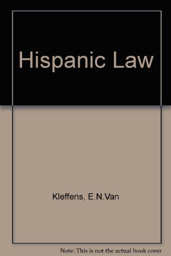 Hispanic Law Until the End of the Middle Ages