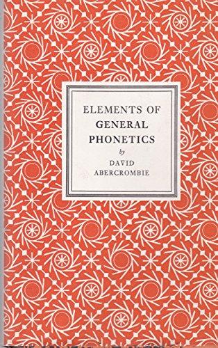 9780852240281: Elements of General Phonetics