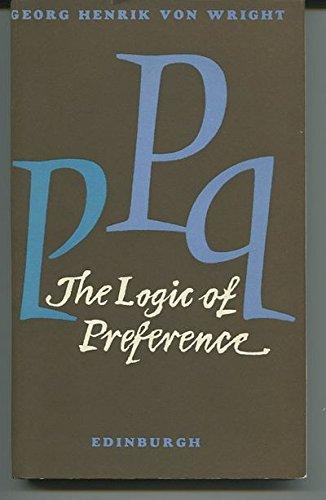 9780852241219: Logic of Preference