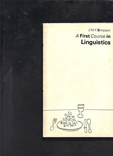 9780852243763: 1st Course in Linguistics
