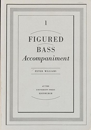 9780852244524: Figured Bass Accompaniment
