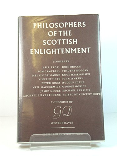 9780852244777: Philosophers of the Scottish Enlightenment