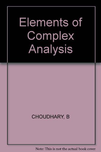 9780852261194: Elements of Complex Analysis