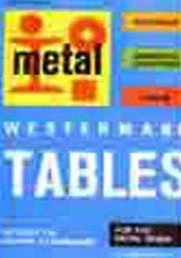 Westermann Tables for the Metal Trade: Materials,: Jutz, Hermann and