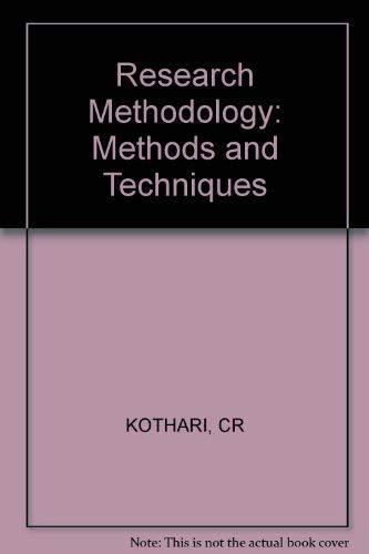 Research Methodology: Kothari, C.R.