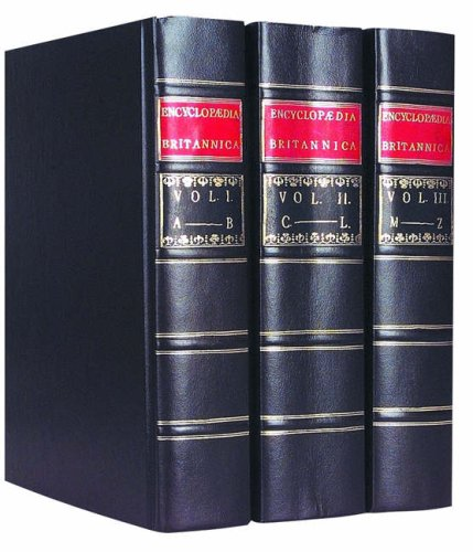 9780852290668: Britannica First Edition Replica Set (3 vol.)