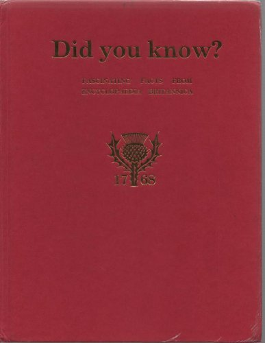 9780852292013: Did you know?: Fascinating facts from Encyclopaedia Britannica