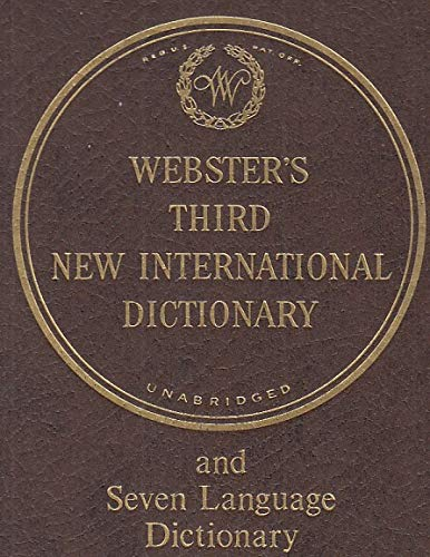 9780852295038: Webster's Third New International Dictionary