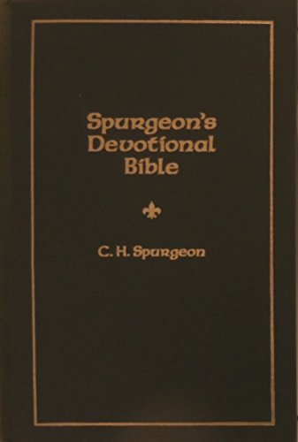 9780852343432: Spurgeon's Devotional Bible: Selected Passages from the Word of God with Running Comments