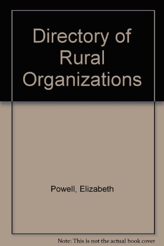 Directory of Rural Organizations (0852363494) by Elizabeth M. Powell; Derek Taylor