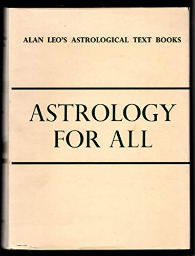 9780852430460: Astrology for All (Astrology for all series)
