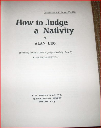 9780852430484: How to Judge a Nativity