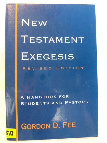 9780852442371: New Testament Exegesis: A Handbook for Students and Pastors