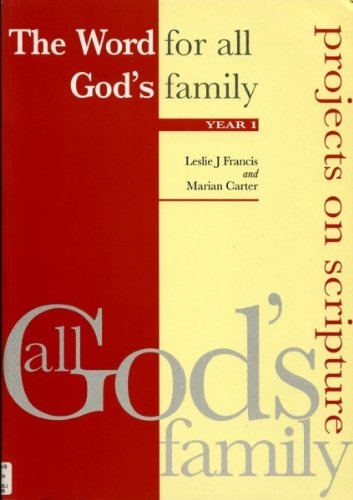 9780852443262: Word for All God's Family: Year 1 (All God's Family: Projects on Scripture)
