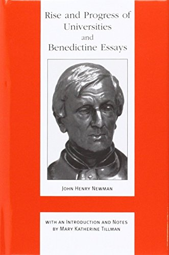 9780852444498: Rise and Progress of Universities: And, Benedictine Essays