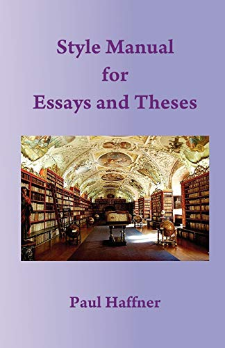 9780852447437: Style Manual for Essays and Theses