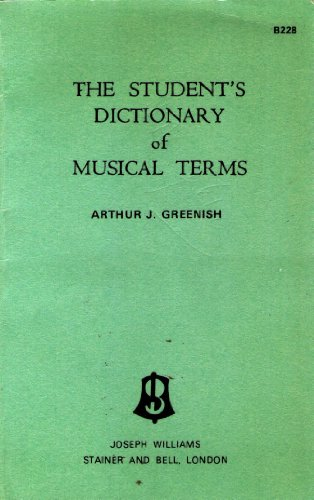 9780852492284: Student's Dictionary of Musical Terms