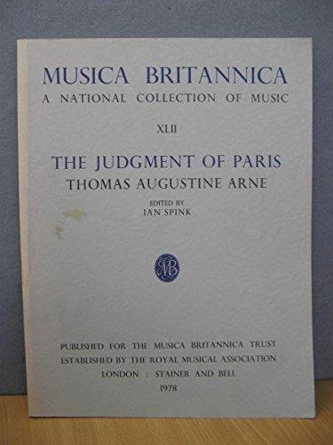 9780852494387: Judgment of Paris: Opera: Full Score: Musica Britannica Vol 42 (v. 42)