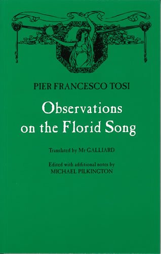 9780852496756: Observations on the Florid Song