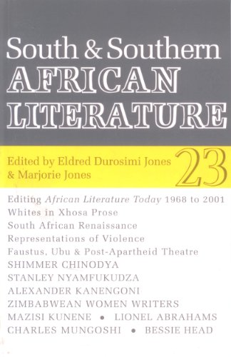 South and Southern African Literature (Special Issue of African Literature Today): Jones, Eldred ...