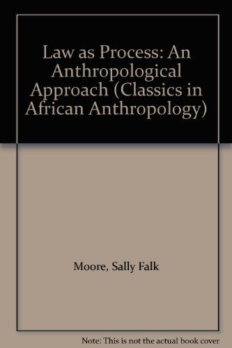 9780852559109: Law as Process: An Anthropological Approach (Classics in African Anthropology)