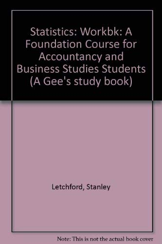 9780852582206: Statistics Workbook for Accountants and Business Studies Students