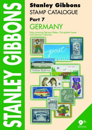 9780852597699: Stanley Gibbons Stamp Catalogue. Part 7, Germany (Also Covering German States, Occupation Issues and German Colonies).