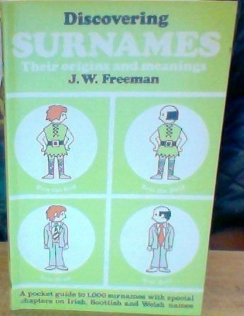 9780852630075: Discovering Surnames : Their Origins and Meanings